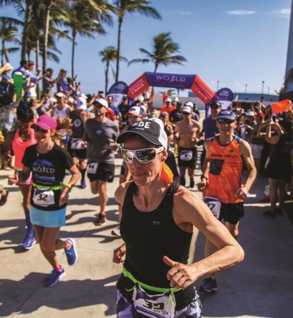 Newcomer racing in Miami, Florida