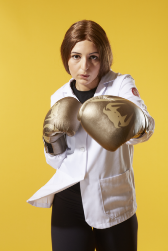 """Stephanie Azzopardi, MD-PhD student """"For stress relief, I engage in cardio kickboxing about five times a week. It's a fun, intense workout that has become a huge part of my lifestyle."""