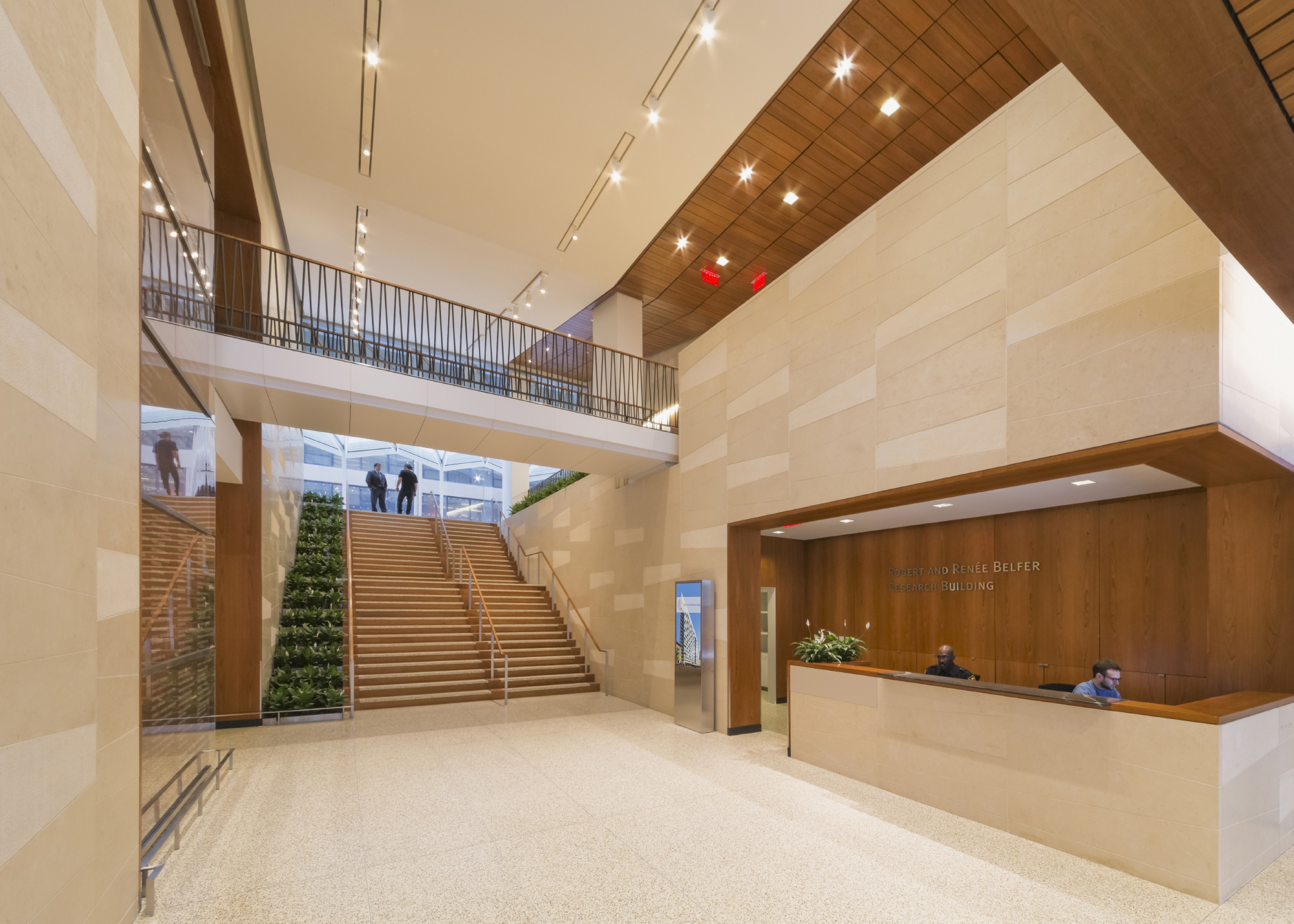 The Belfer Research Building's lobby