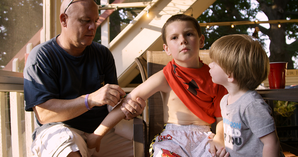 Bob Bancroft and sons Alex and Christian