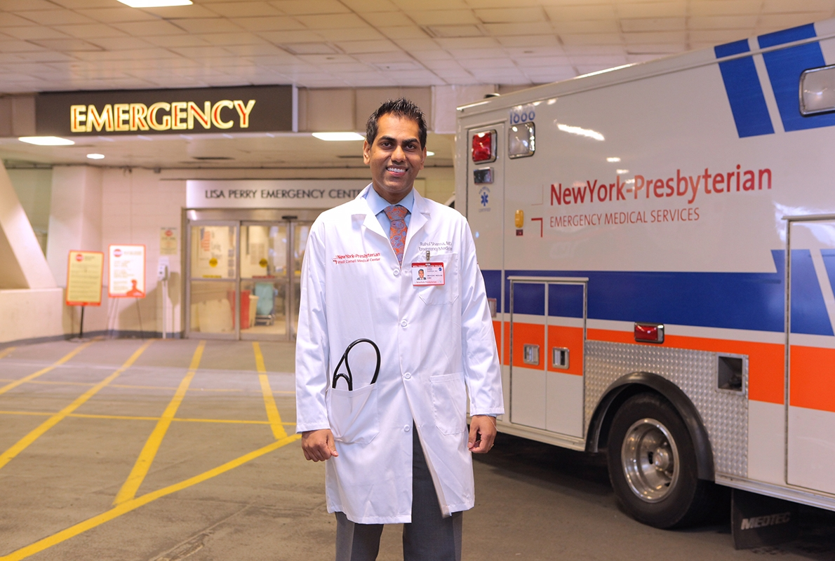 Dr  Rahul Sharma, Emergency Physician-in-Chief at NewYork