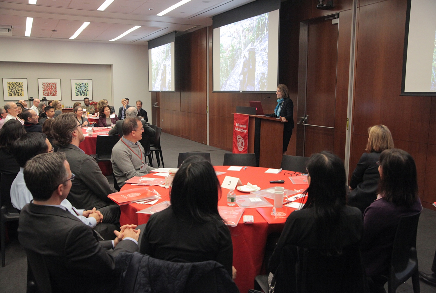 Dr. Laurie H. Glimcher discusses why social media is so important for physicians and scientists during the Office of External Affairs' inaugural Social Media Summit on Nov. 5. All photos: Ira Fox
