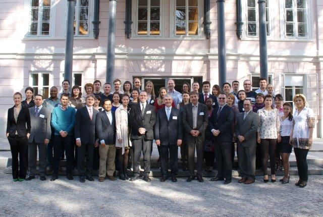 Dr. Michael G. Stewart, course director of the Salzburg Weill Cornell Seminar in otorhinolaryngology, with Weill Cornell faculty and his class
