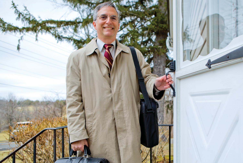 HOUSE CALL: Dr. Bruce Reidenberg at work in the Hudson Valley. Photo credit: John Abbott