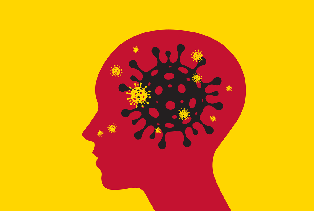 an illustration of a brain with gears