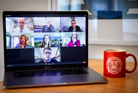 Gallery image of panelists during a Zoom meeting