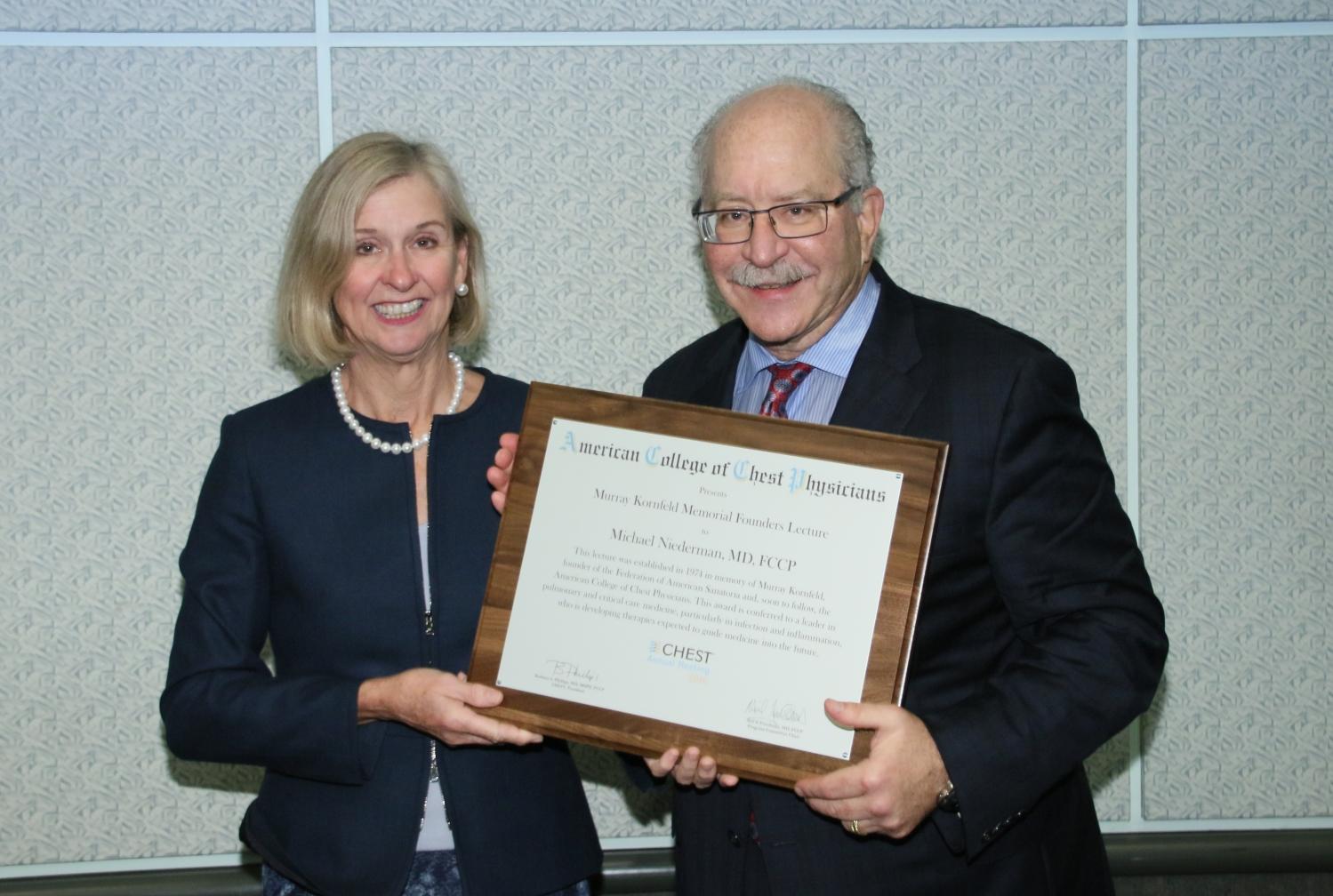 Drs. Michael Niederman and Barbara Phillips