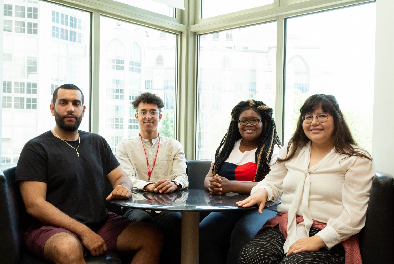 IMSD Students Rafael Colon, Viktor Belay, Amanda Simon and Valerie Gallegos