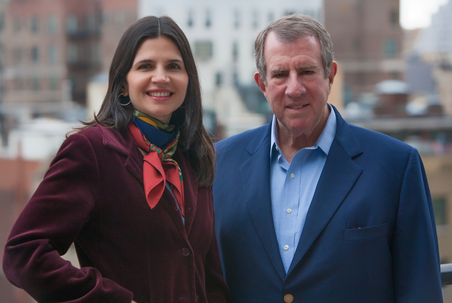 """Andrew Tisch and Mary Skafidas, co-authors of """"Journeys: An American Story."""" Photo credit: Mamnur Rahman"""