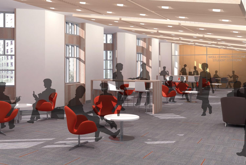 12 5 million gift from feil family creates feil family student center at weill cornell medicine for Cornell interior design undergraduate