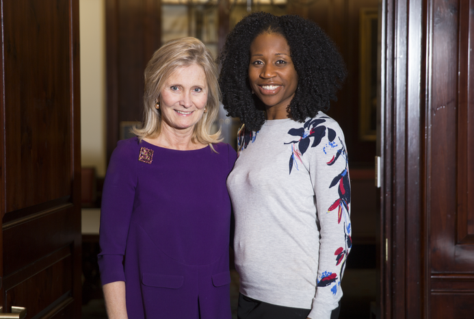 From left: Dr. Silvia Formenti and Dr. Onyinye Balogun. Photo credit: Ashley Jones