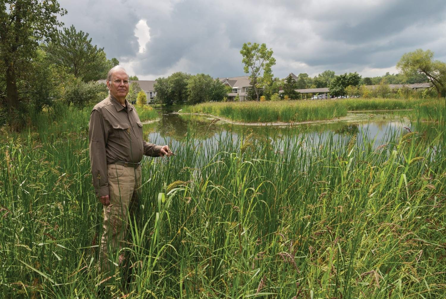 Great Outdoors: Dr. Alan Lockwood  seen near his home in Oberlin, Ohio, believes doctors have a duty to advocate for solutions to climate change. Photo credit: Linda Grashoff