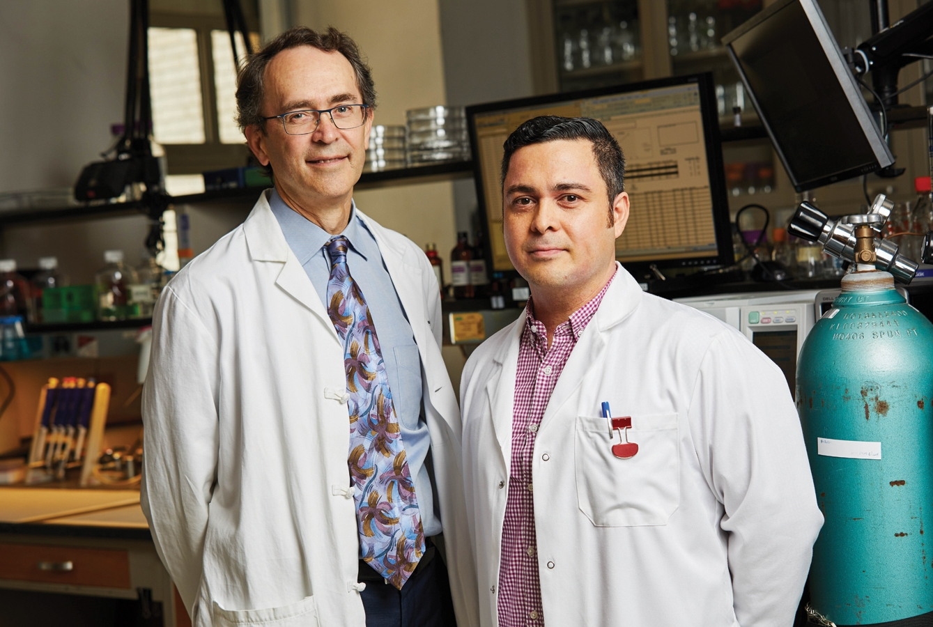 Dr. Hugh Hemmings (left), and Dr. Karl Herold. Photo credit: Travis Curry