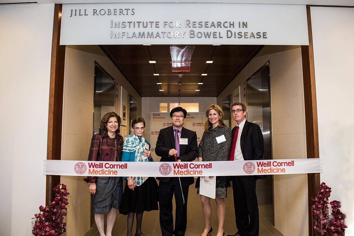 Dr. Ellen Scherl, Jill Roberts, Dr. Augustine Choi, Jessica Bibliowicz and Dr. David Artis