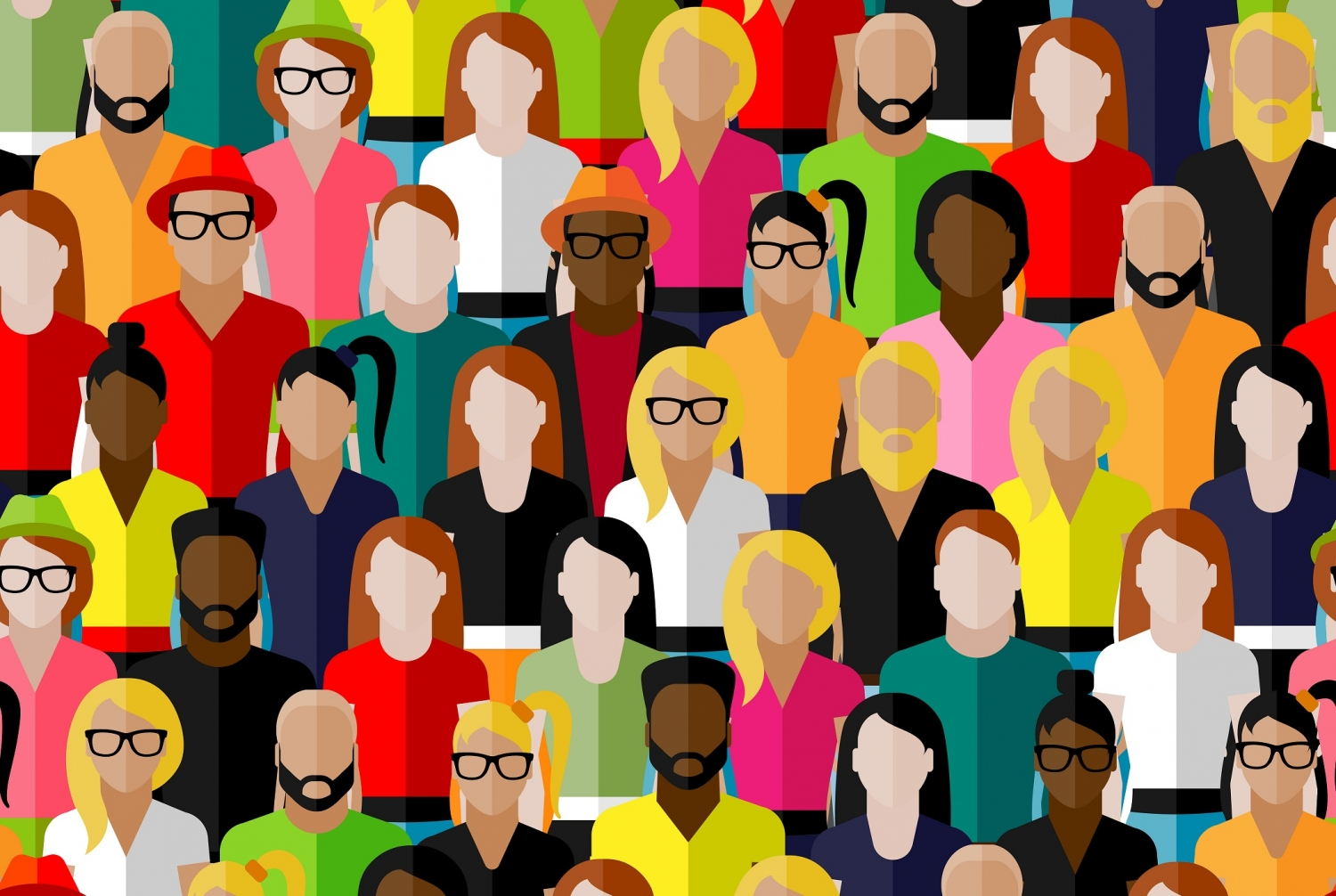 a vector illustration of a crowd of people.