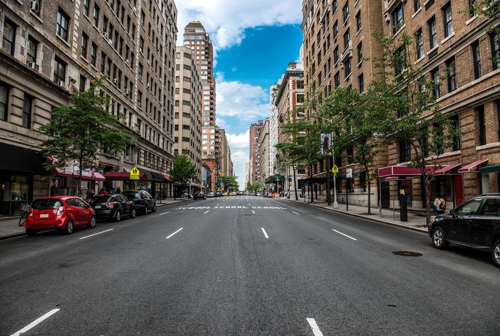 NYC empty street
