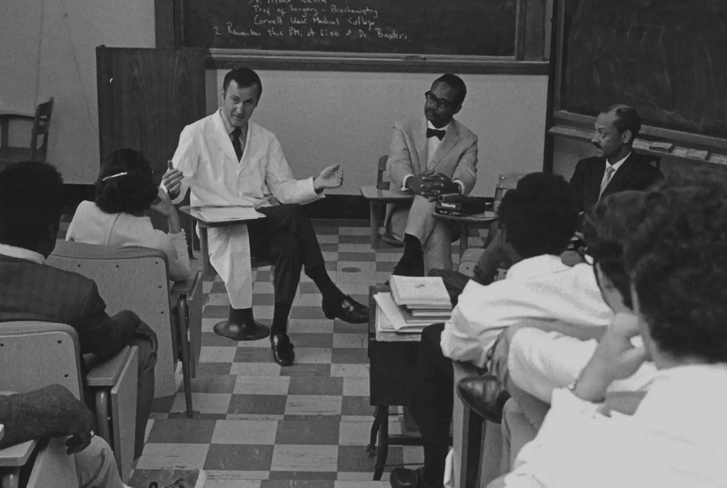 Historical photo of students in a classroom