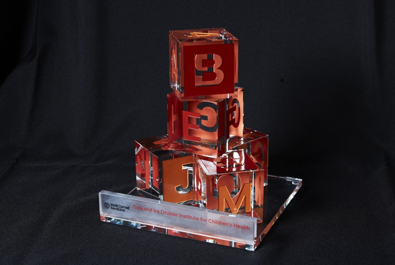 childrens blocks stacked on top of each other, representing Drukier Prize