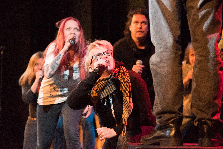 Playing God: The Rock Opera: Dr. Tuija Takala, Maya Korvela, Johanna Ahola-Launonen and Stefan Berggren.