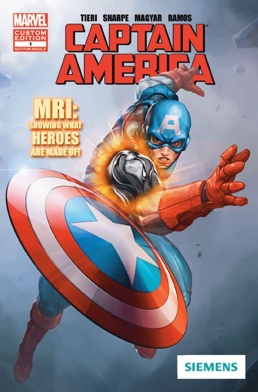 """The new Marvel Custom Solutions comic book is included in an """"MRI Heroes Kit."""""""