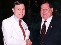 Dr. Oliver Fein and U.S. Congressman Jerrold Nadler.