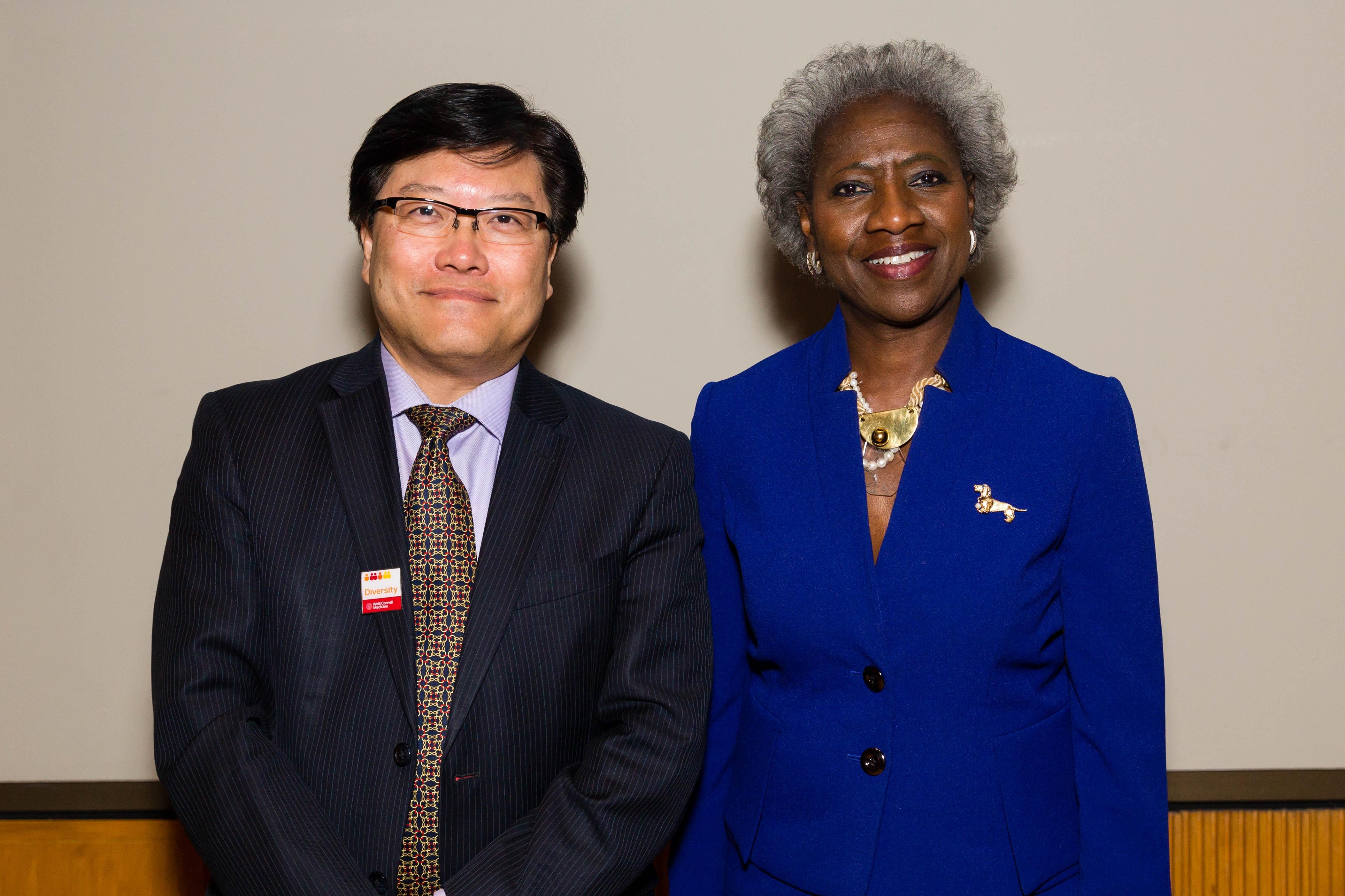 Dr. Augustine M.K. Choi and Dr. Hannah Valantine