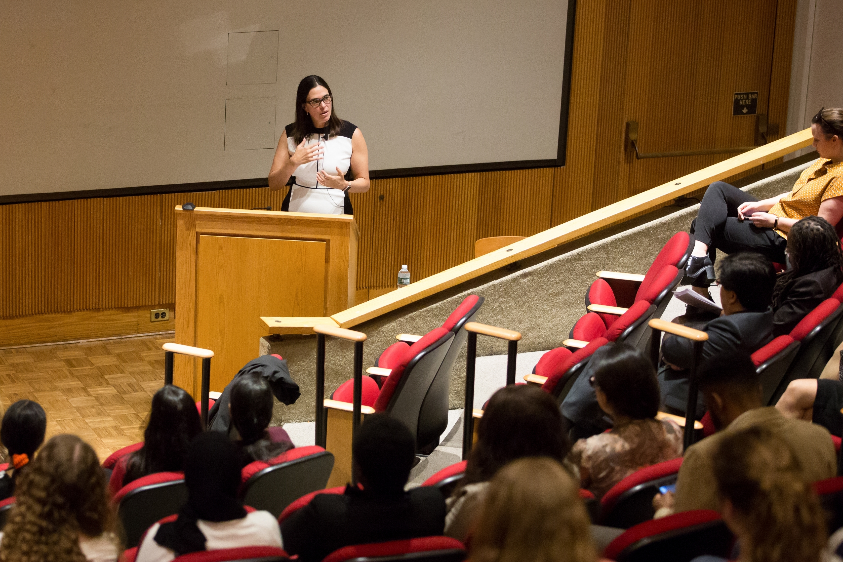 Dr. Sian Beilock, president of Barnard College, gives a keynote address at Weill Cornell Medicine during Diversity Week