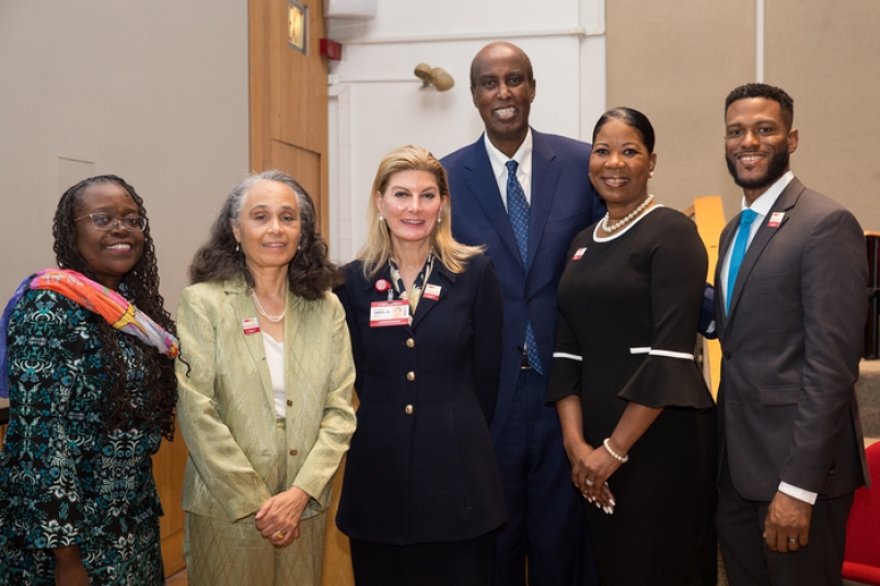 Dr. Dara Richardson-Heron, chief engagement officer of the All of Us Research Program, with leaders from Weill Cornell Medicine's Office of Diversity and Inclusion: Dr. Elizabeth Wilson-Anstey, Dr. Linnie Golightly, Dr. Rach