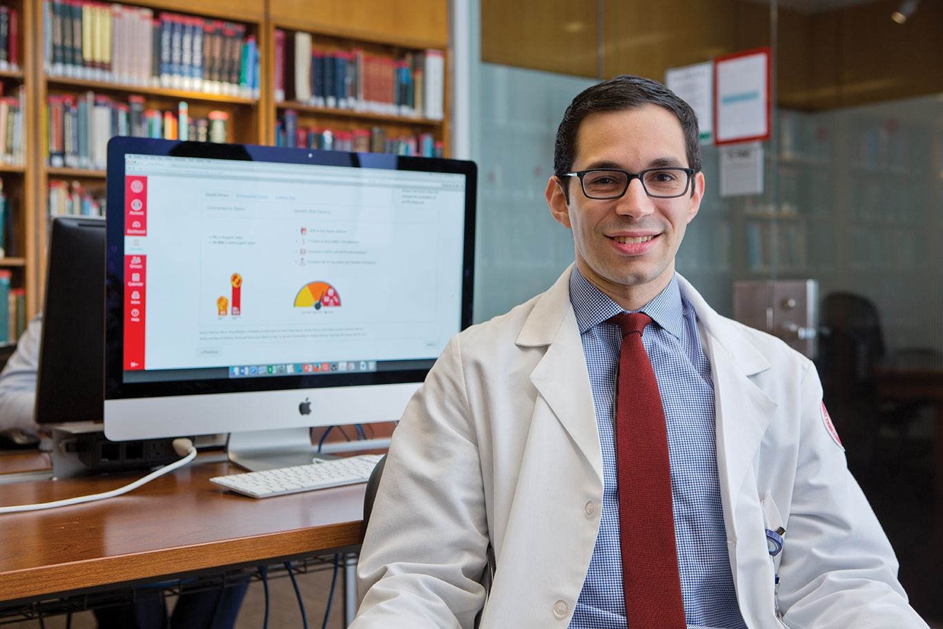 Lee Gottesdiener '19 says that his understanding of multiple sclerosis was enhanced by the use of an e-module.