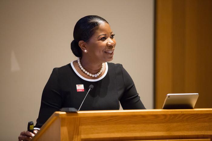 Dr. Dara Richardson-Heron delivers her keynote address