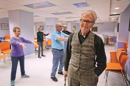 retired internist Dr. George Kaufman at Riverdale Senior Services