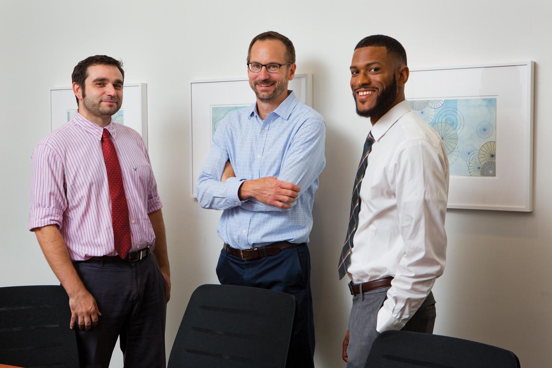 Matt Cipriano and Drs. David Christini and W. Marcus Lambert