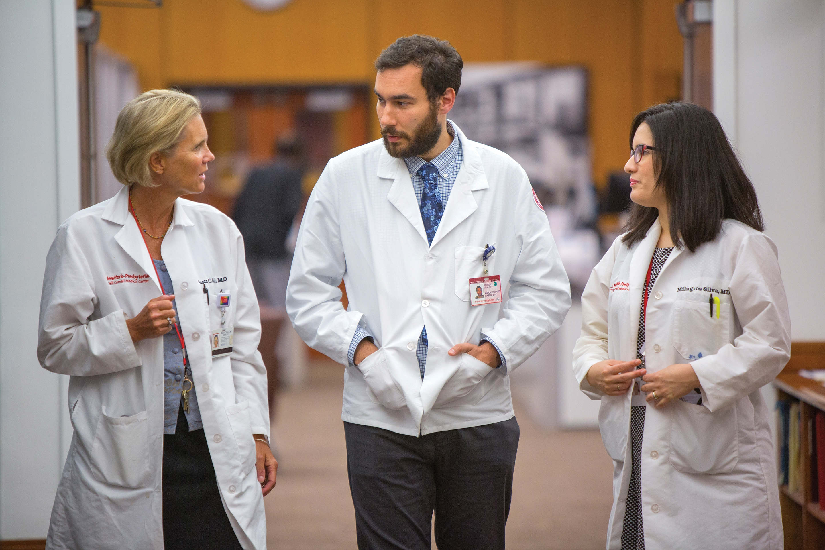 Vince Raikhel '18 (center) with mentors Dr. Susan Ball (left), and Dr. Milagros Silva