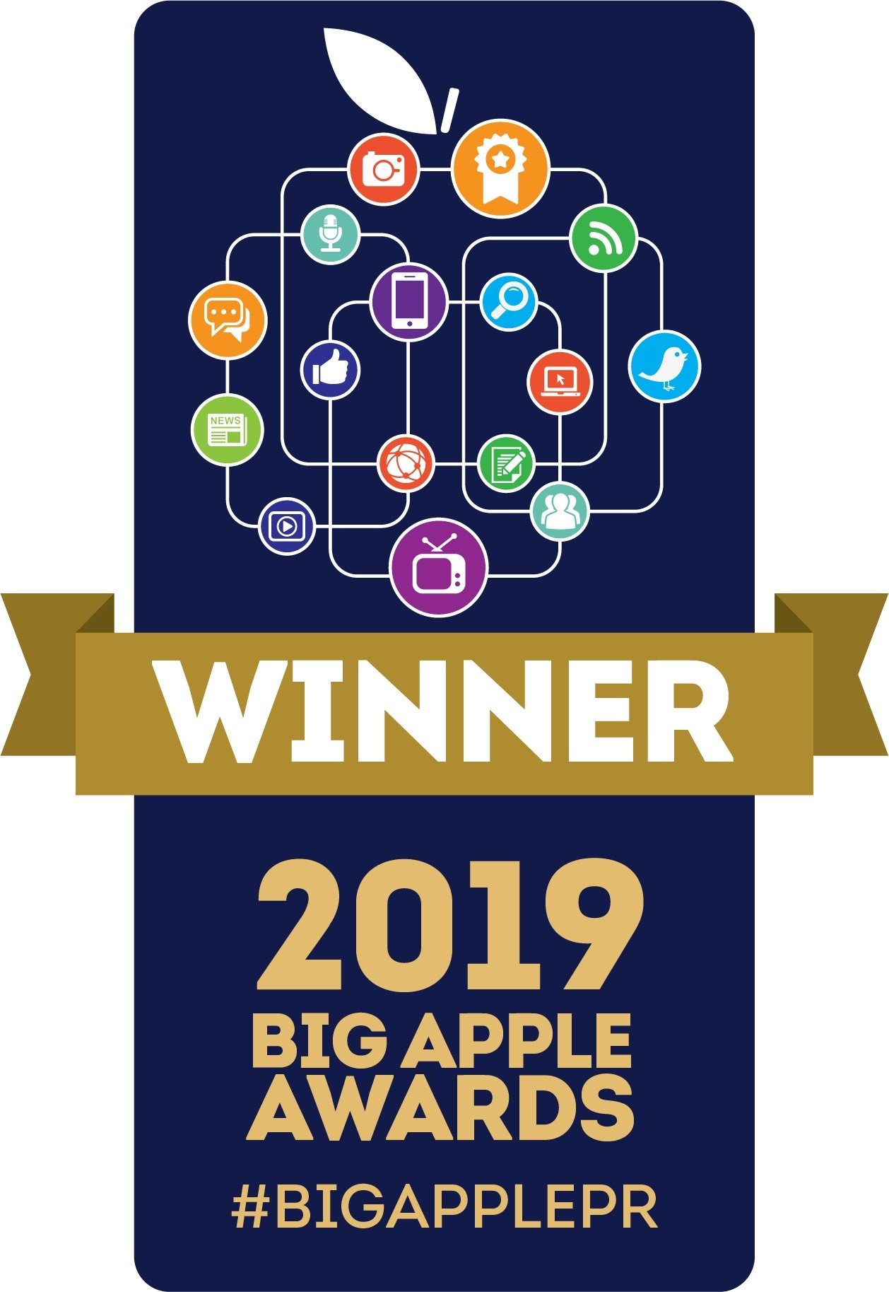 2019 Big Apple Awards badge