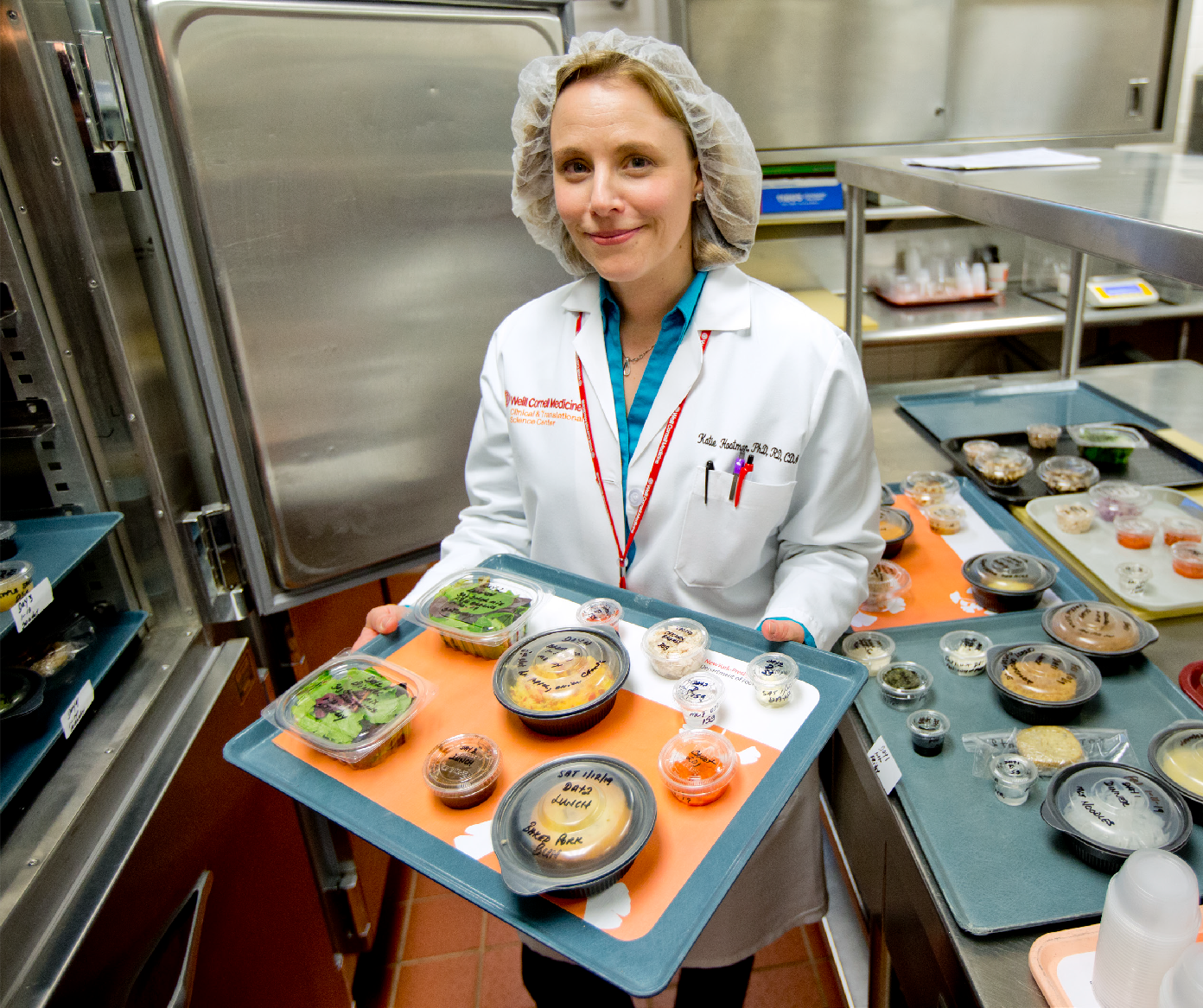 HEALTHY EATING: Dr. Katie Hootman, PhD '15, in the CTSC Metabolic Research Kitchen