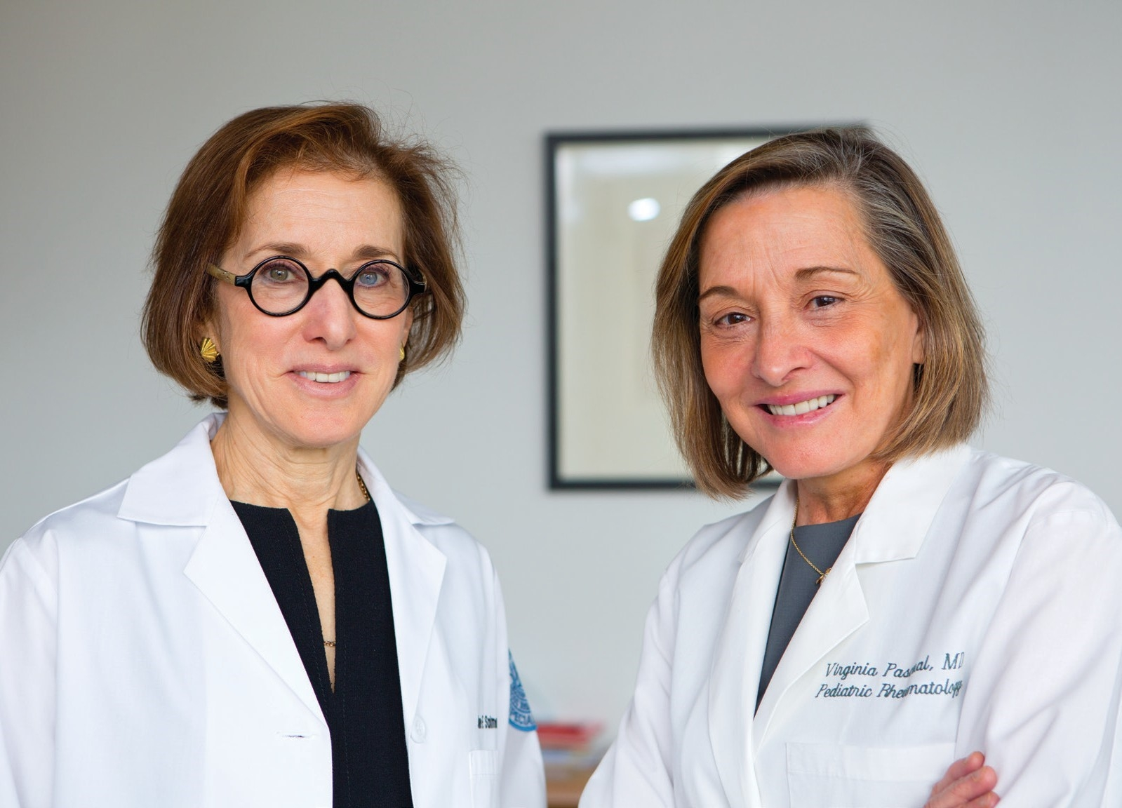 Dr. Jane Salmon (left) and Dr. Virginia Pascual. Credit: John Abbott
