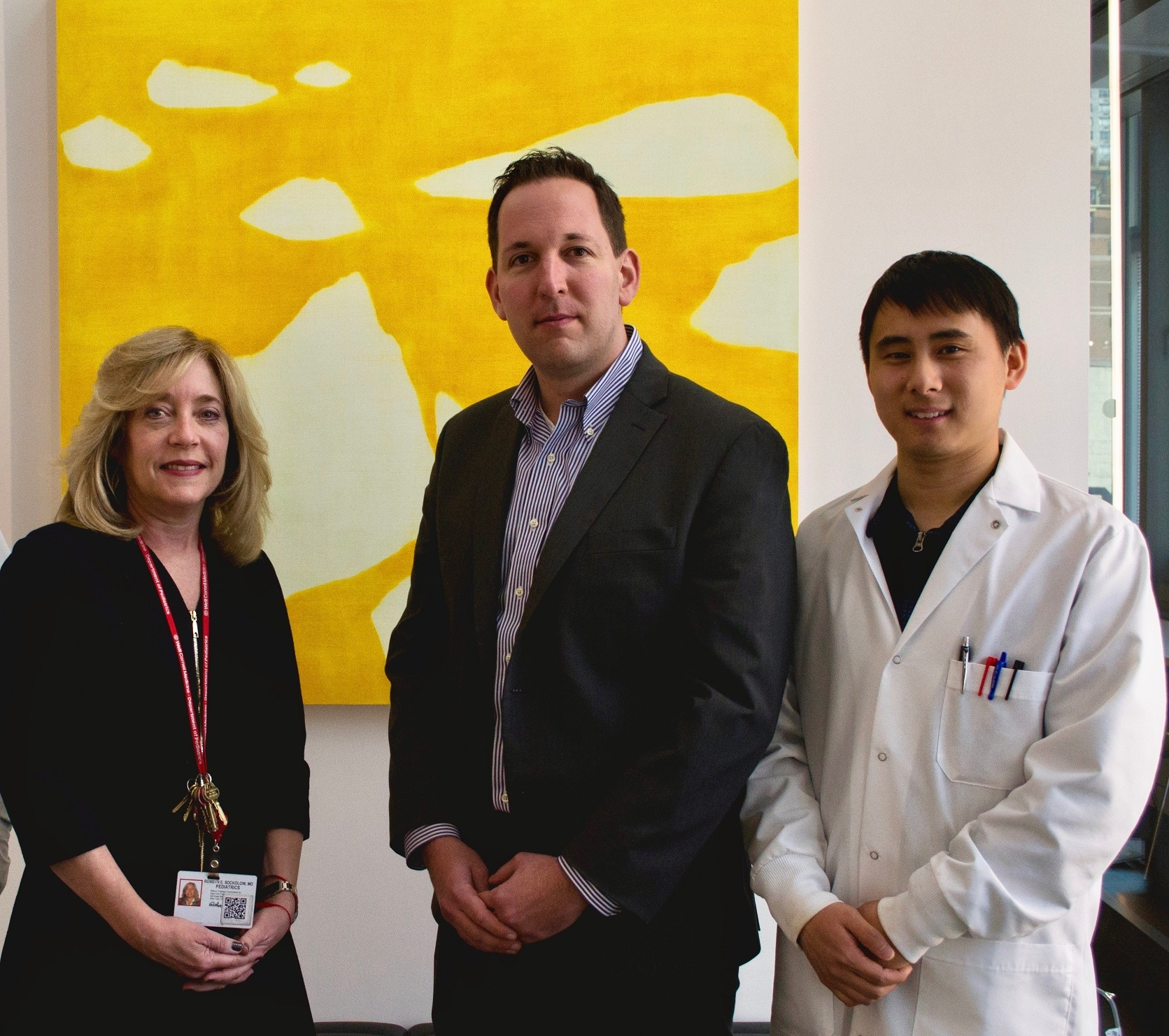 From left: Dr. Robbyn Sockolow, Dr. Gregory Sonnenberg and Dr. Lei Zhou