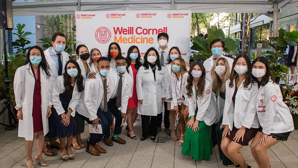 A group shot from the White Coat Ceremony for the Class of 2024