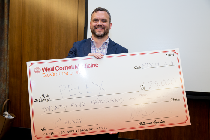 Dr. Jeremy Wiygul, founder of the second prize winning company, Pelex.