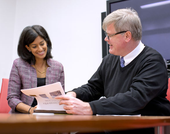 Dr. Jyoti Mathad and Dr. Daniel Fitzgerald. Photo credit: John Abbott