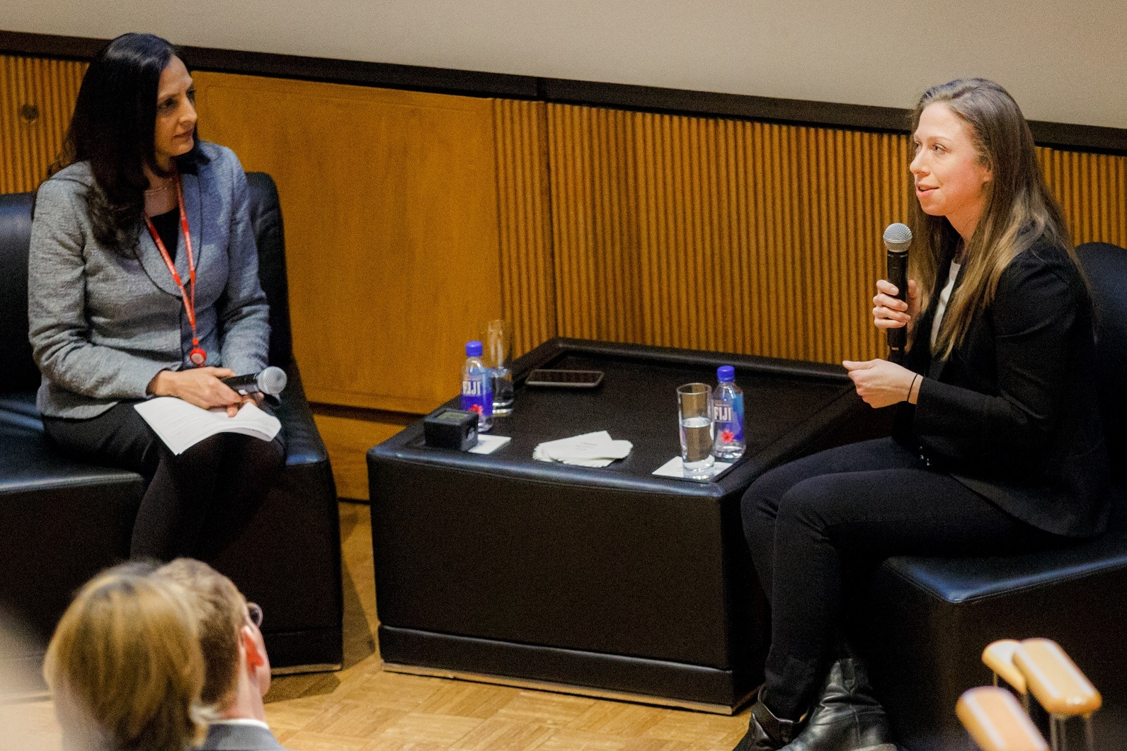 Dr. Rainu Kaushal and Chelsea Clinton
