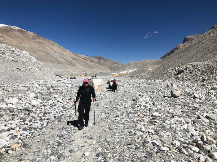 At Altitude: Scenes from the expedition to the North Col of Mount Everest that Dr. Ronald Crystal attempted last April. Photos provided