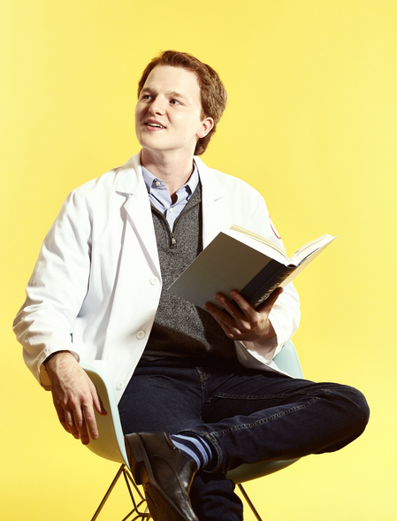 """Danny Kramer, MD-PhD student - """"Most of my fun reading is nonmedical. On my bedside, I currently have Out of Africa, Future Shock, and a murder mystery called Hope Never Dies."""""""