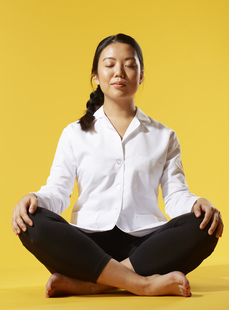 """Joanna Gao '21 - """"I may not be the best yogi, but I always turn to yoga during stressful periods in my life. I love that you have to focus all of your energy into holding your pose, and therefore clear away your other stressors."""""""