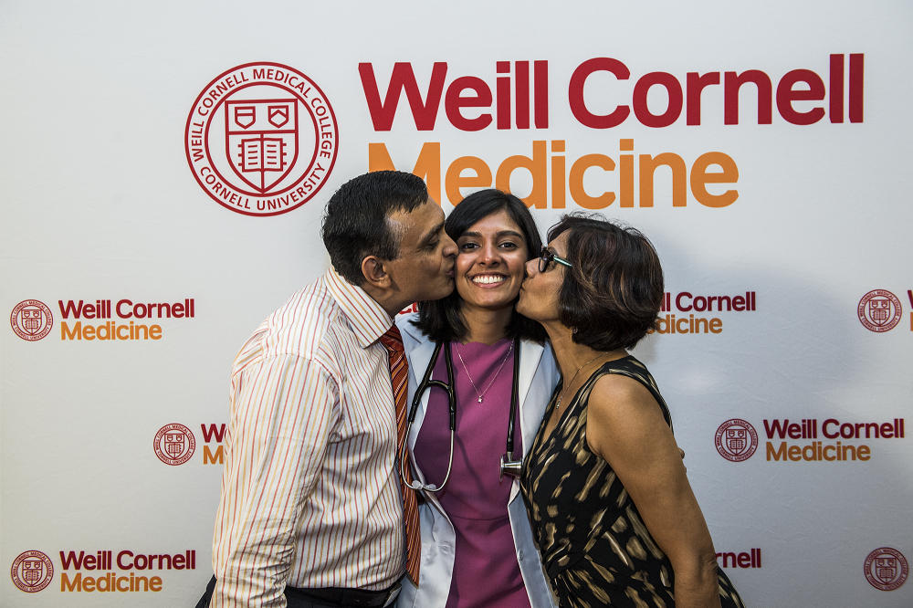 Nivita Sharma and her parents.