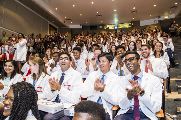 Weill Cornell Medical College's Class of 2023 during the White Coat Ceremony on Aug. 20. Click photo to view the full White Coat Flickr gallery. All photos: Studio Brooke