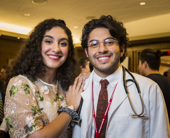 Medical student Arsalan Haghdel (right) and his sister Delaram