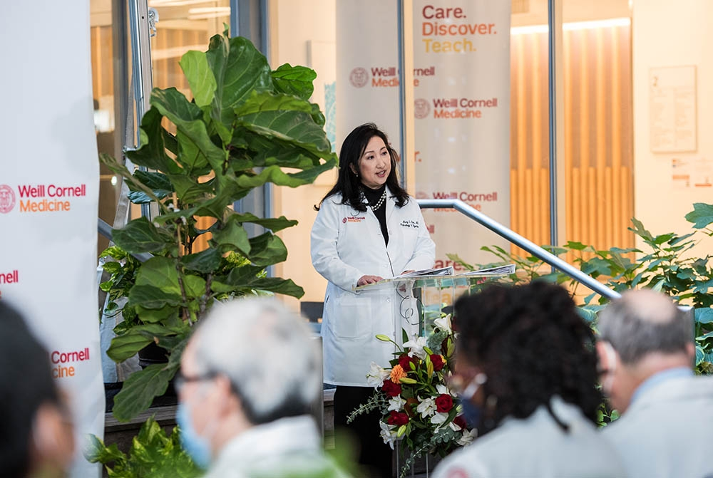 Dr. Mary Choi speaking