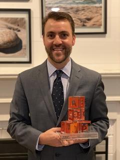 Dr. Stephen Patrick with Drukier Prize